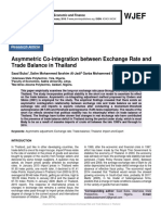 Asymmetric Co-integration between Exchange Rate and Trade Balance in Thailand