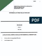 SPM Trial 2010 Sej Q&A (Kedah)
