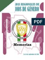 Memorias Primeras Jornadas Regionales de Estudios de Género