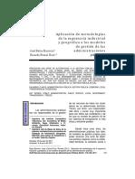 Aplicación de metodologías  de la ingeniería industrial y geográfica a los modelos  de gestión de las administraciones públicas