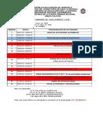 Cronograma Académico Semestre I-2018