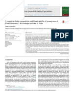 A report on body composition and fitness profile of young men of Toto community