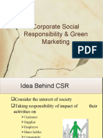 Corporat Social Responsibility & Green Marketing