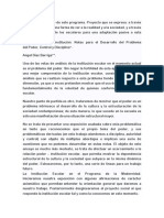 La Escuela Como Institucion - Diaz Barriga