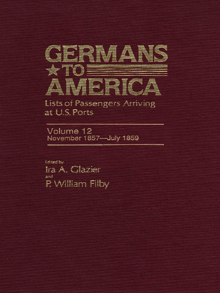 Docslide.net Germans To America Volume 12 Nov 2 1857 July 29 1859 Lists Of  Passengers