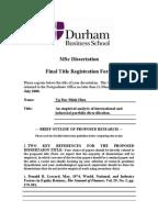 DISSERTATION PROPOSAL Dissertation Proposal
