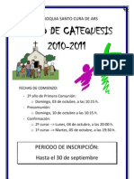 Cartel Catequesis 2010-2011