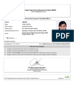 admit card sample