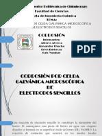 Corrosión Por Celda Galvánica Microscópica de Electrodos Sencillos