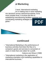 Introduction of International Mkting