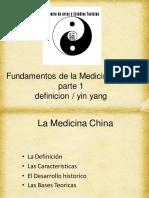 La Medicina China YIN YANG