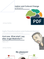 Agile Transformation and Cultural Change - Lean Approach to Change Management