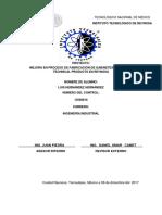 Mejora en Proceso de Fabricación de Gabinetes en Pentair Technical Products en Reynosa