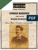 VARIACIONES ODEÓN. Tango brasileiro. Ernesto Nazareth. Transc. para piano Gerardo Betancourt.