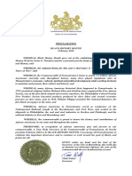 Governor Wolf Proclamation -- Black History Month 2018