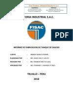 Informe de Fabricacion de Tanque de Dialisis