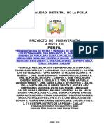 PERFIL 01 Pistas y Veredas 2014 La Perla