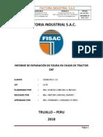 Informe de Reparacion de Chasis de Tractor D8T-Ferreyros