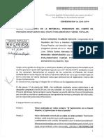 Kenji Fujimori respuesta a Comité de Proceso Disciplinario de Fuerza Popular
