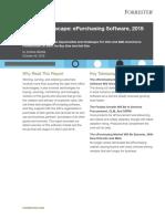 Forrester Vendor Landscape E-purchasing Software 2015 2016