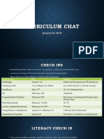 curriculum chat january 23