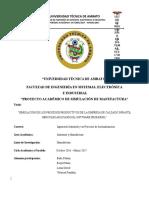 Informe Del Proyecto Simulación de Manufactura