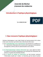 Introduction à l'optique physiologique