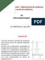 TD Électrophysiologie