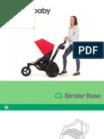 O2 Stroller Base Illustrated Folder Text Booklet Warranty
