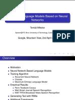 Statistical Language Models Based on Neural Networks