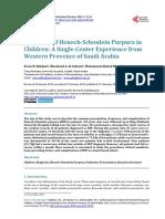 Spectrum of Hsp in Children Western Provence of Saudi Arabia