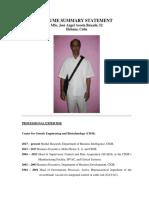 Curriculum Vitae Jose A Buxado