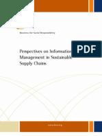 BSR Info Management Supply Chains