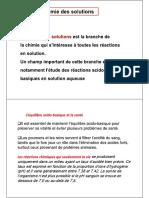 Chimie Des Solutions