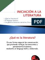 INICIACIÓN A LA LITERATURA