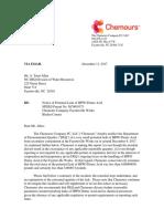 Chemours Letter_Dec11