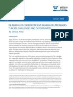 DE-RISKING OF CORRESPONDENT BANKING RELATIONSHIPS
