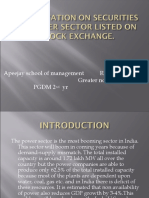 Presentation on Securities of Power Sector Listed On stock exchange
