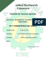 Ph y Consistencia Del Suelo