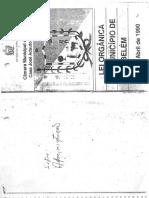 Lei Organica Do Municipio de Belem 05-04-1990