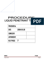 Pt-001 Rev 0 Liquid Penetrant Testing Procedure