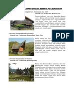Kliping Rumah Adat Indonesia Beserta Pen