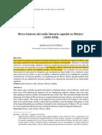 Breve Historia Del Exilio Literario Español