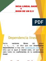 Dependencialineal Base y Dimension