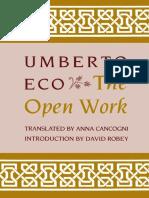 Eco Umberto the Open Work