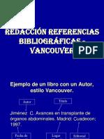 Redacción Referencias Bibliograficas Vancouver