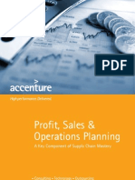 Accenture Profit Sales and Operations Planning