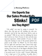 Sales Lead to Sales Leader - Burning Platform