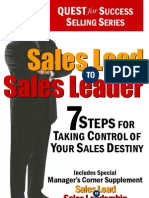Sales Lead to Sales Leader - Contents and Intro
