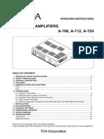 A 700 Manual